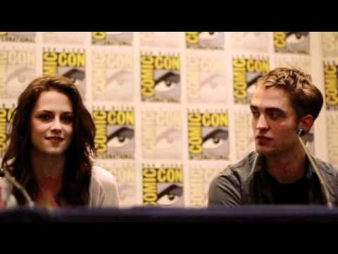 Breaking Dawn Comic Con 2011 Press Conference Robert Pattinson, Kristen Stewart, Taylor Lautner