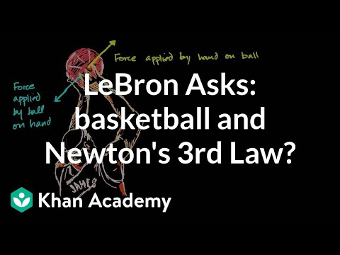 LeBron asks about Newton's 3rd Law