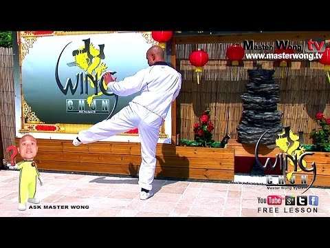 Wing chun course:Stepping and side kick, lesson 12