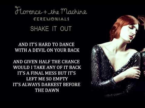 Florence   the Machine - Shake It Out (Lyrics)