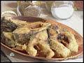 Фрагмент с середины видео Рыба с чесноком и кинзой по рецептам бухарских евреев