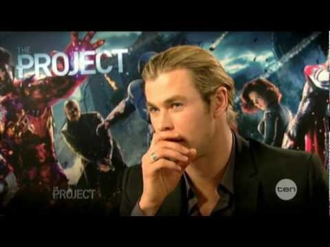 Chris Hemsworth interview on The Project - The Avengers (2012)