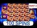 **100 SPINS** MASTODON slot machine Bonus (Part 2)