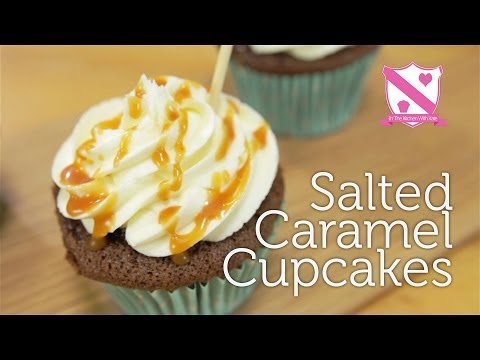 Salted Caramel Cupcakes 'Hidden Centre' - In The Kitchen With Kate