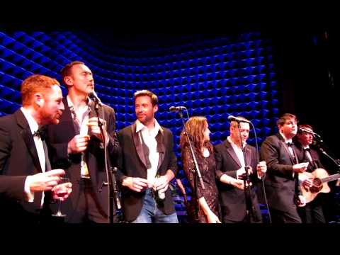 Breathless, Hugh Jackman & Full NYC Russell Crowe Alan Doyle NYC Indoor Garden Party Cast