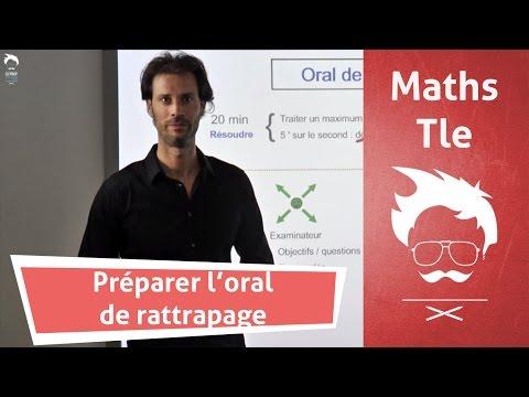 Réussir l'oral de rattrapage en maths au Bac
