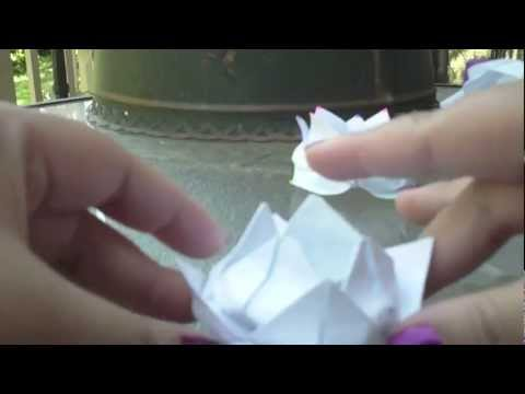 Origami Lotus Flower/ Water Lily for Mothers' Day