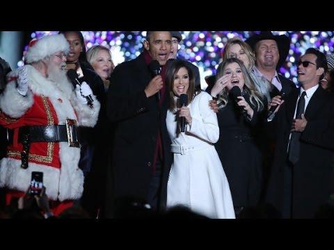 Obama canta Jingle Bells junto a Marc Anthony y Eva Longoria