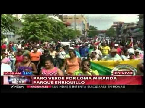 Inicia marcha hacia el Congreso por Loma Miranda