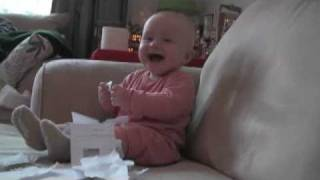 Baby Laughing at Paper Noise
