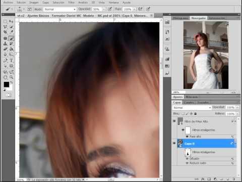 Photoshop CS5 Avanzado - Suavizar Detalles PARTE 2 de 3 (Enfoque de borde) - VIDEO HD