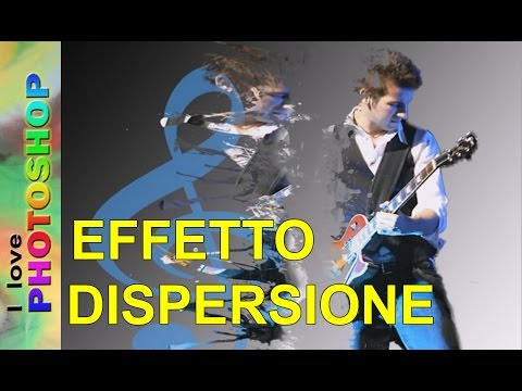 Photoshop tutorial italiano - Effetto dispersione (splatter dispersion)