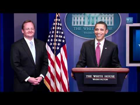 Obama's Funny Good Bye to Press Secretary Robert Gibbs