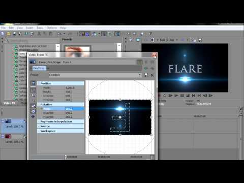 HOW I EDIT MY FLARE FLICKER EFFECTS SONY VEGAS PRO