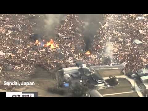 Widespread destruction from Japan earthquake  tsunamis 11 3 2011.flv