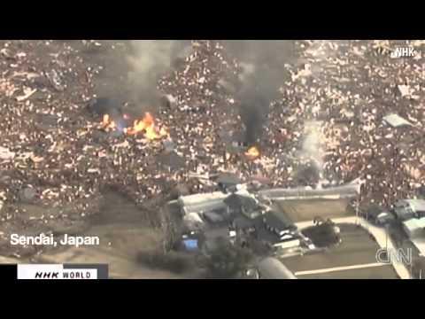 Widespread destruction from Japan earthquake  tsunamis 11 3 2011.flv