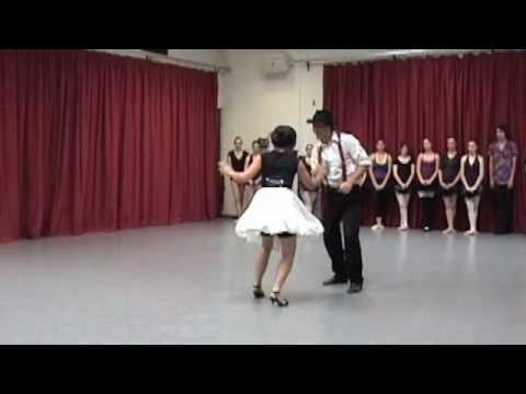 Alec Marken and Liz Cartojano Swing Dance Duet