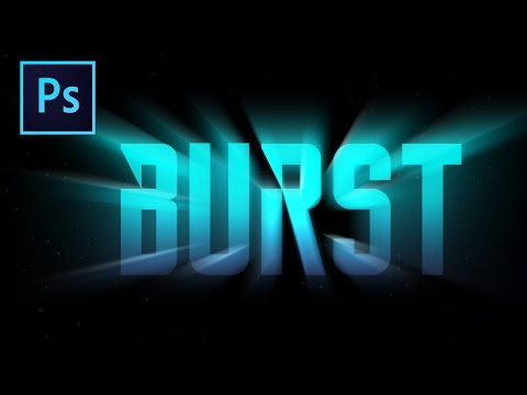 Light Burst Text Effect - Photoshop Tutorial ( Beginners)