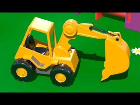Мультфильмы про машинки - ЭКСКАВАТОР на детской площадке