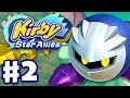 Kirby Star Allies - Gameplay Walkthrough Part 2 - Planet Popstar 100% Meta Knight! (Nintendo Switch)