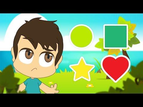Learn Shapes in Arabic for Kids - تعليم الأشكال للاطفال باللغة العربية