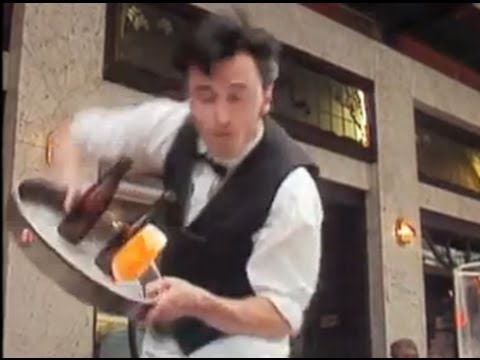The Most Clumsy Waiter Ever Spills Drinks on Everyone