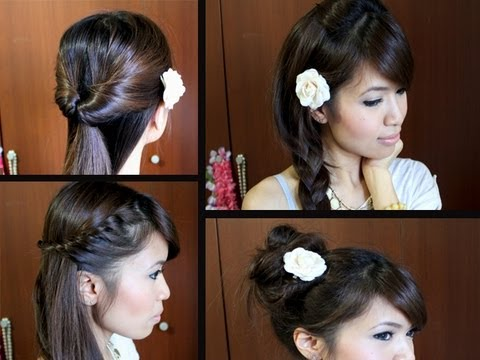 Pretty & Cute Back to School Hairstyles (No Heat)