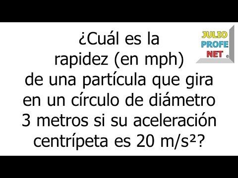 Problema 2 sobre Movimiento Circular Uniforme