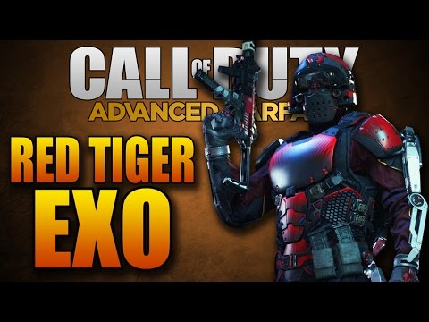 Advanced Warfare: RED TIGER Exo Suit! (Multiplayer Character Customization)