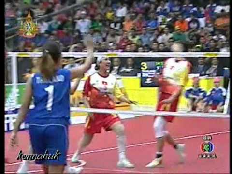 Thailand Vs Vietnam''Women Final''2011 Sepak Takraw World Championship Part 3