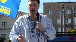 Олег Тягнибок на рынке в Житомире