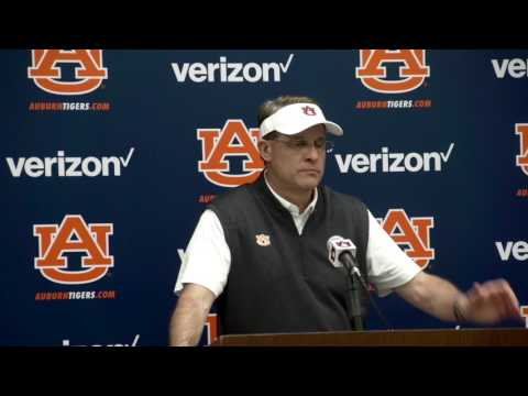Gus Malzahn discusses Auburn's performance in A-day game.