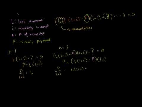Sommatoria di Serie Geometrica per il Calcolo delle Rate di un Prestito per un Mutuo