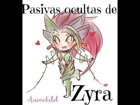 League of legends Pasivas ocultas de Zyra
