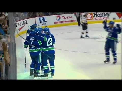 Daniel Sedin Goal - Canucks Vs Bruins - R4G2 2011 Playoffs - 06.04.11 - HD