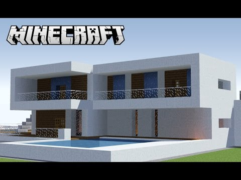 Youtube minecraft pequena casa moderna tutorial e for Casas modernas minecraft keralis