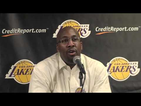 Lakers Coach Mike Brown on defense
