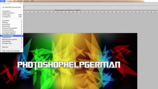 Adobe Photoshop Tutorial - modernes Crystal Wallpaper