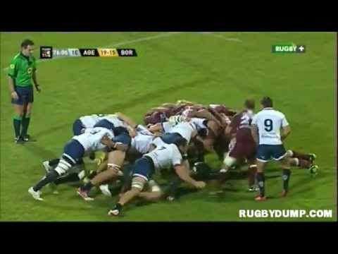 Rugby in France 2012 2013 round 07 Agen Bordeaux Fight