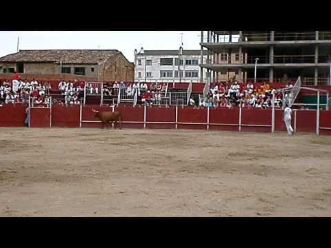 """Concurso de recortadores Castejón 28/06/2011- Miguel Segura """"Pericolo"""" y Mariano Ruiz."""