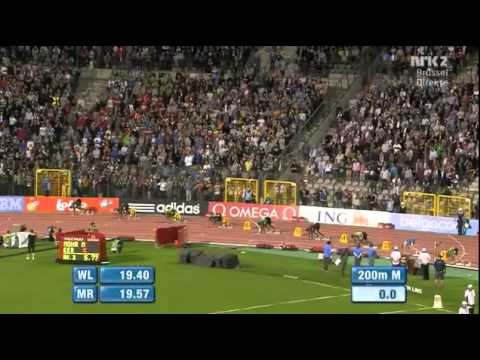 YOHAN BLAKE  19.26!!! 200m Men Brussels Diamond League 2011