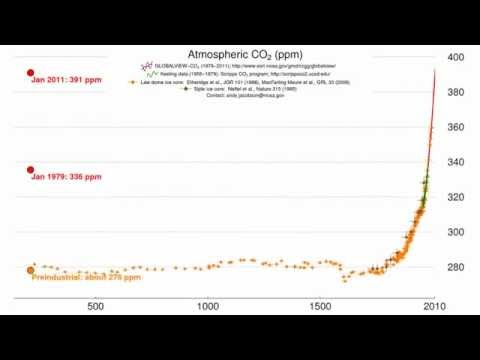 Timescale Matters: 800,000 years of CO2 (NOAA)