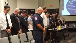 Fellowship Student Pastor Prays for Forney City Council