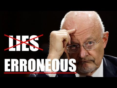 NSA's Clapper Calls His Lies erroneous.