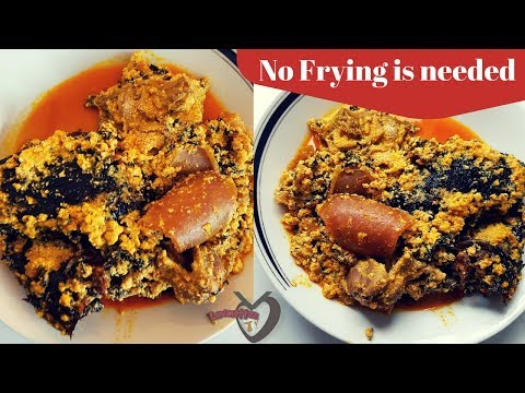 How to cook Egusi Soup | Easiest and Fastest Method | No Frying is Needed