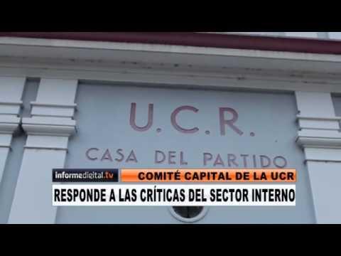 <b>Comit� Capital de la UCR. </b> Responden a las cr�ticas del sector interno del partido