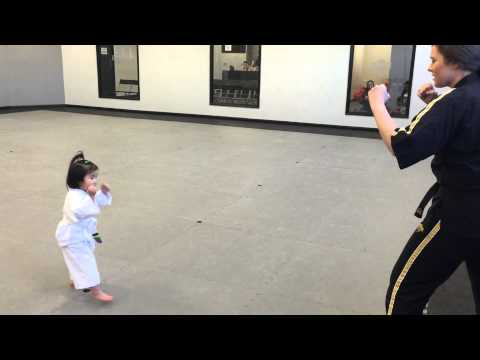 3 Year Old White Belt Reciting the Student Creed