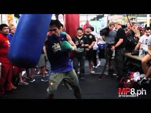 Manny Pacquiao - Racks up the Damage on the Heavy Bag