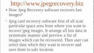 Jpeg Recovery view on youtube.com tube online.