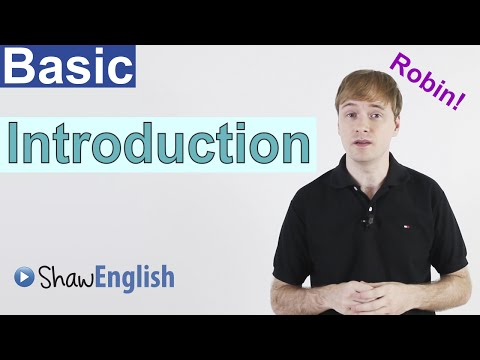 Basic English Introduction